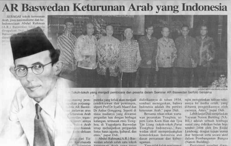 Bintang Mahaputra Adipradana untuk Tokoh Pejuang A.R. Baswedan