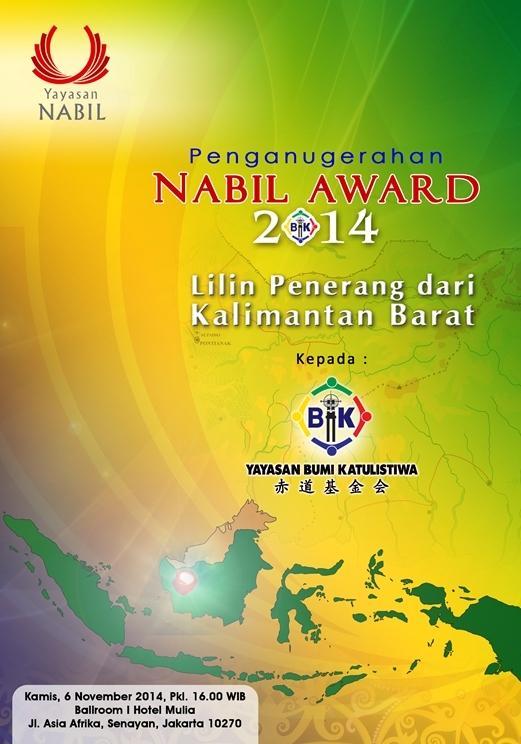 Yayasan Bumi Khatulistiwa Menerima Nabil Award 2014