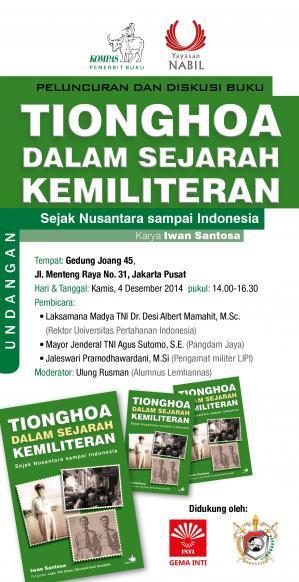"Peluncuran dan Diskusi Buku ""Tionghoa dalam Sejarah Kemiliteran: Dari Nusantara sampai Indonesia"""